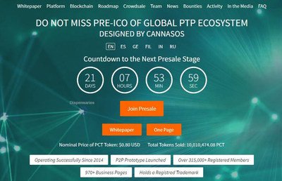 CannaSOS is in its second stage of the Public Presale with its PerksCoin ICO and has already sold 10,000,000 PCT tokens