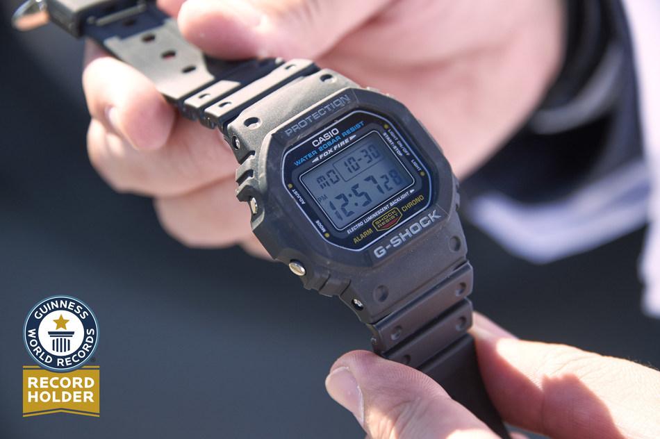 The G-SHOCK DW5600E-1, Guinness World Records Holder