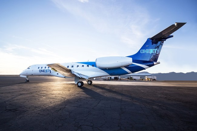 The OneJet ERJ135 will offer a comfortable 30 seat cabin with 38 inches of seat pitch at every seat, as well as 4G high-speed Wi-Fi and streaming entertainment enroute.