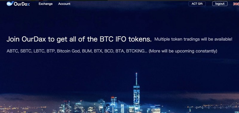 OurDax, la primera Bolsa de Criptomoneda en apoyar todas las negociaciones con bitcoin bifurcado (PRNewsfoto/OurDax Worldwide Limited)