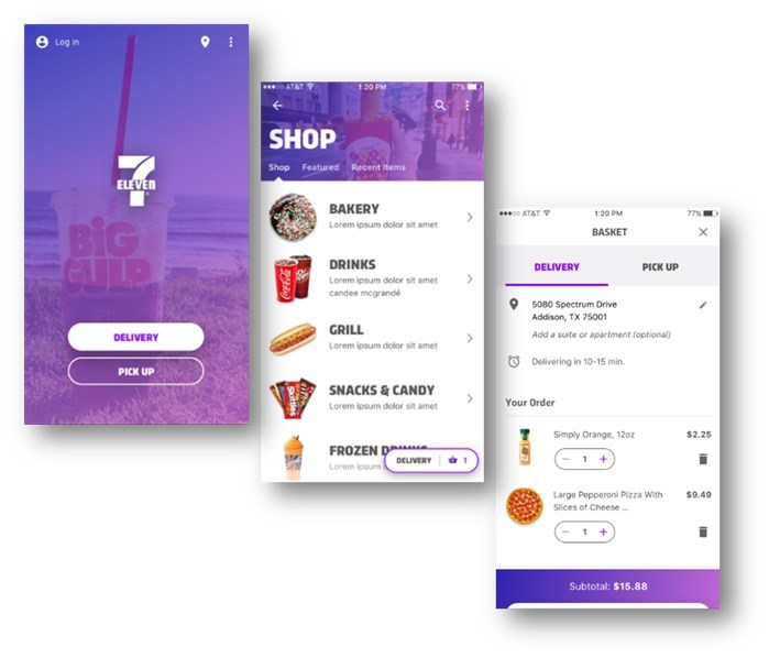 7-Eleven, Inc. is testing on-demand ordering for delivery or in-store pickup at select Dallas stores with its new 7-ElevenNOW smartphone app. Currently being tested in 10 downtown and uptown 7-Eleven® stores, 7-ElevenNOW is expected to roll out to other U.S. locations in 2018.