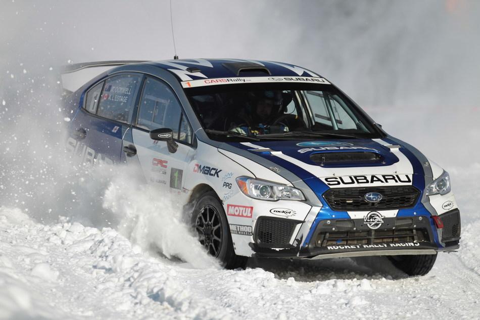 Subaru Rally Team Canada Claims Victory at B.C.'s Big White Winter Rally (CNW Group/Subaru Canada Inc.)