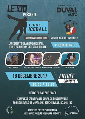 Nouveau sport créé au Québec : Iceball, brise la glace ! (Groupe CNW/Lexto inc.)