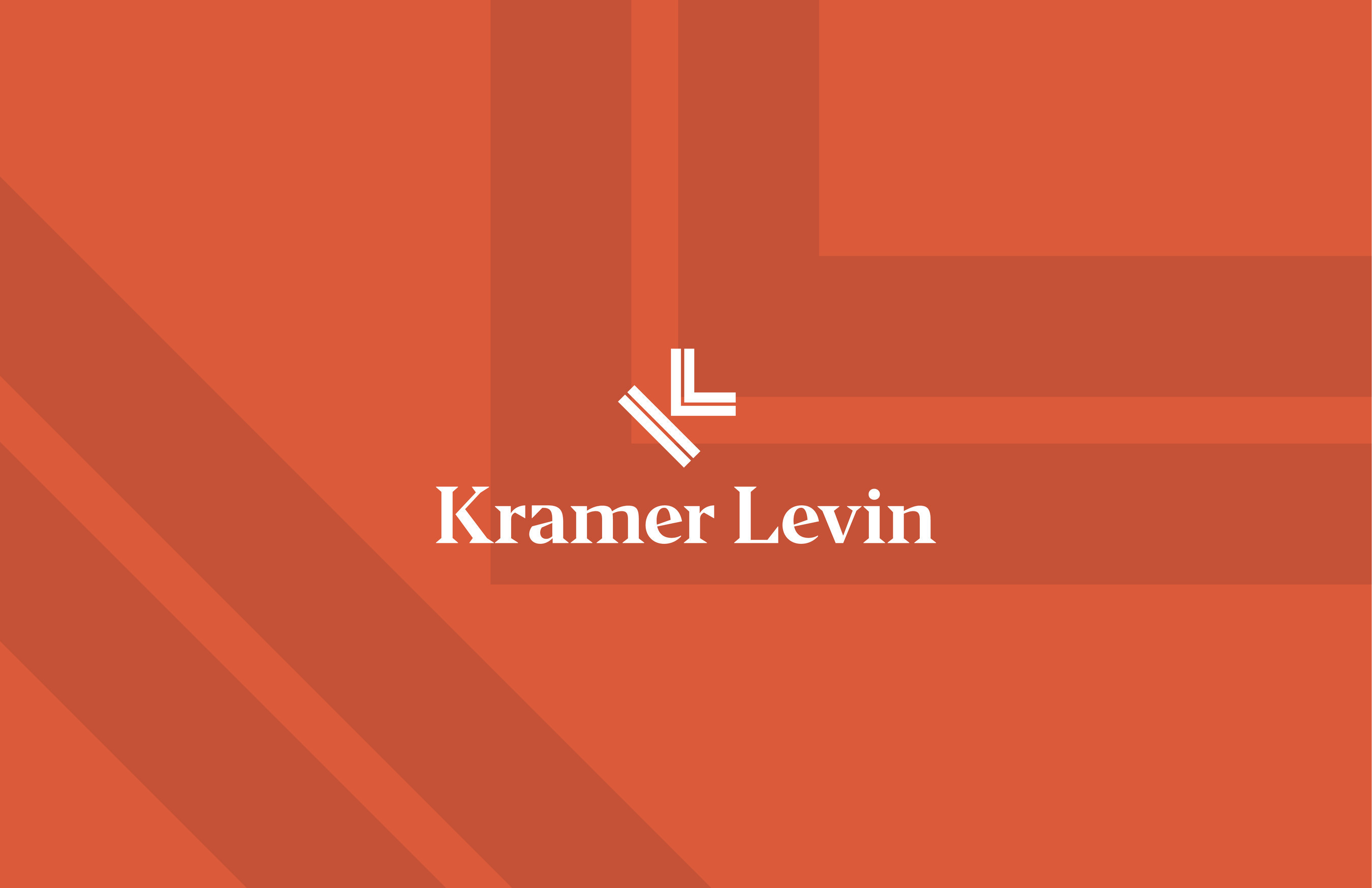 Kramer Levin logo and pattern.