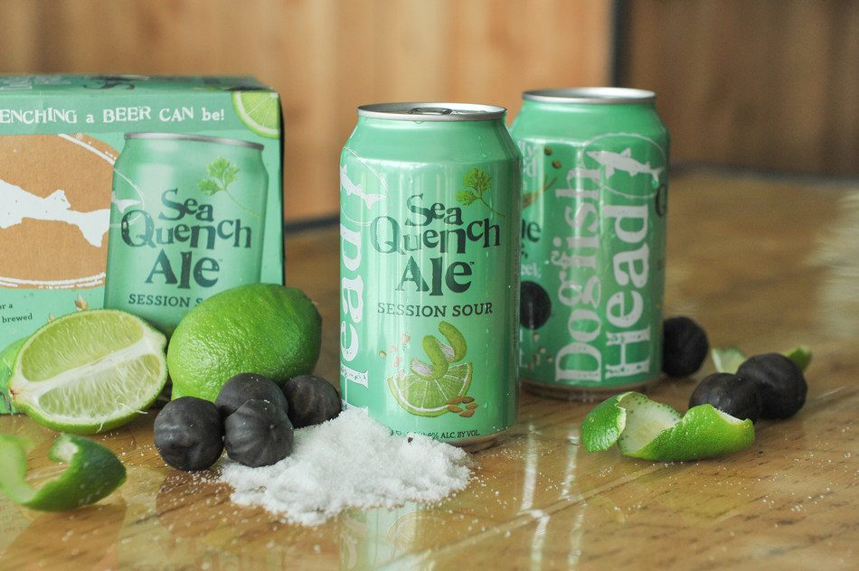 SeaQuench Ale - A super refreshing mash-up of three famously sessionable beer styles combined in sequence: Kolsch, Gose and Berlinerweiss.  This hybrid sour quencher is brewed with lime juice, lime peel, black limes and sea salt.