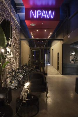 Entrance to NPAW's Barcelona HQ (PRNewsfoto/NPAW)