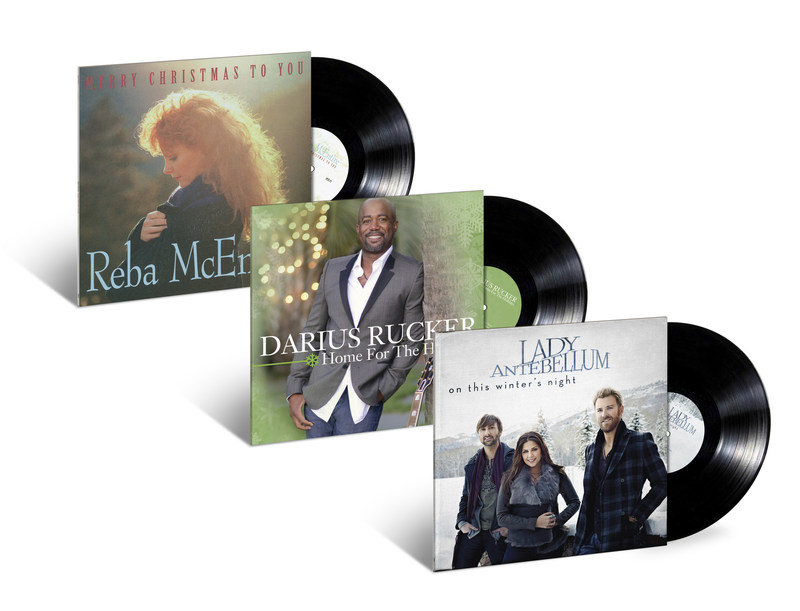 From the 30th anniversary reissue of Reba McEntire's first Christmas album to Lady Antebellum and Darius Rucker's beloved collections getting their first-ever release on vinyl, UMe has several country Christmas records to put under the tree or on the turntable to make your holiday gatherings even brighter.