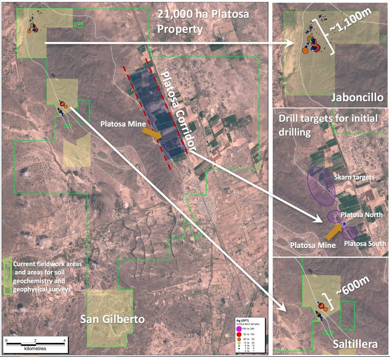 2018 Initial Exploration Programs at Platosa (CNW Group/Excellon Resources Inc.)