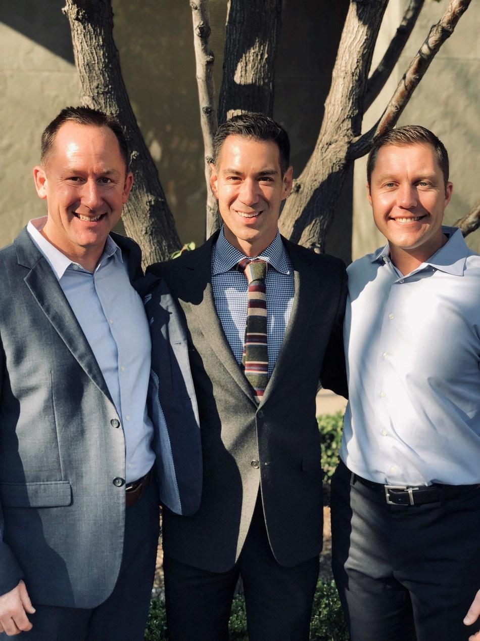 Mainstream Real Estate co-founders Chris Zanger and Matt Mueller with Climb President Chris Lim, center