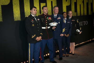 The USO partnered with Universal Pictures to host more than 200 service members at the Dolby Theater in Hollywood. Five service members had the chance to walk the red carpet alongside the cast of the film.  USO photo by Brian Stethem
