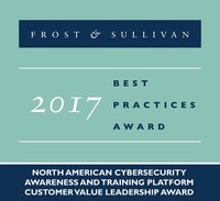 2017 North American Cybersecurity Awareness and Training Platform Customer Value Leadership Award