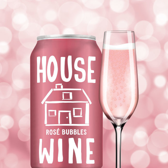 Pop, sparkle, sip! House Wine Rosé Bubbles launch just in time for Holiday cheer! The 375 mL cans are the latest in the House Wine line-up and are available nationwide now.