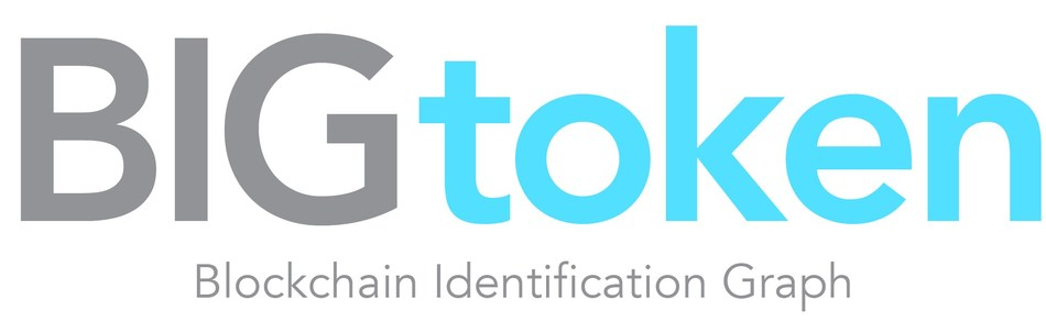 BIGtoken Blockchain Identification Graph Logo (PRNewsfoto/Social Reality, Inc.)