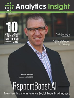 Analytics Insight Magazine's First Issue Featuring Michael Housman, Co-Founder and Chief Data Science Officer, RapportBoost.AI (PRNewsfoto/Analytics Insight)