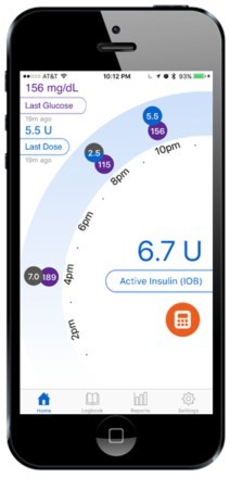The Companion App home screen gives a summary of your current data. It provides last dose and last blood glucose information, an active insulin display (like an insulin pump) and a graphical depiction of the last 10 hours. In addition, you can access the dose calculator to help with the diffcult calculations required for insulin dosing.