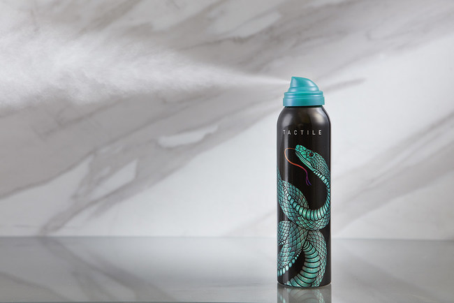 Ball's Tactile can won a 2017 Canmaker 'Can of the Year' bronze award in the prototype category for its innovative design and distinctive tactile print finish, which were brought to life by a snake featured prominently on the aluminum aerosol can. Tactile ink provides texture on the can for greater consumer interaction with the package.