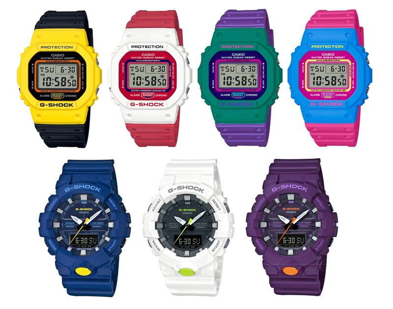 The DW5600 Throwback 1983 Collection And New GA800 Colorways