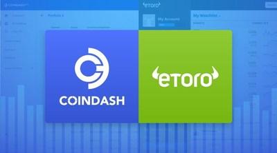eToro announces partnership with CoinDash (PRNewsfoto/eToro)