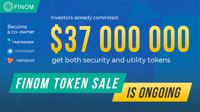 Finom raises initial $37 million for blockchain platform powered by AI-advising. The corporation grown out of five cryptocurrency companies: Nanopool, TabTrader, Cryptonit exchange, Cryptal mining center and Beetle.io mobile broker that helps to purchase Bitcoin and Ethereum with bank cards. Nanopool is one of the world's largest Ethereum mining pools. TabTrader provides mobile trading on nearly all major exchanges: Bittrex, Bitfinex, Poloniex, Kraken etc. The companies have a four-year partnership history. Finom makes the world of finance available to everyone.