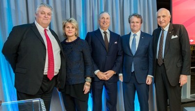 Tom Montag, COO of Bank of America; Anne Finucane, vice chairman of Bank of America; Dr. Robert I. Grossman, Dean and CEO of NYU Langone; Brian Moynihan, CEO of Bank of America; and Ken Langone.