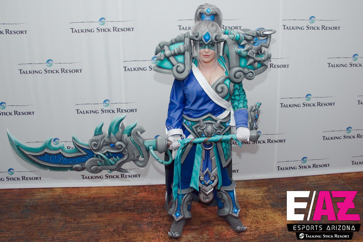 Kristin Stump took home the grand prize in Talking Stick Resort's Cosplay Costume Contest for her costume, Mystic Kingdoms Arthas.