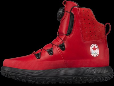 Under Armour and the Canadian Olympic Committee announce Under Armour as the official high-performance footwear supplier for Team Canada. Male athletes will wear the red winter Govie boots (pictured above) at the opening and closing ceremonies and will wear HOVR Phantom running shoes on the podium. A limited number of boots and training shoes featuring Team Canada's mark will be available for purchase leading up to the Olympic Winter Games through underarmour.com/en-ca, as well as through retail partner Sport Chek via sportchek.ca exclusively.   Photo credit: Under Armour (CNW Group/Under Armour, Inc.)