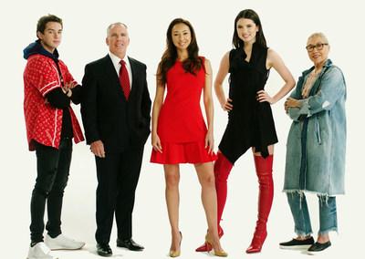 El elenco (de izquierda a derecha): Thomas Henry Jr., Thomas J. Henry, Azteca Henry, Maya Henry, Teresa Crawford