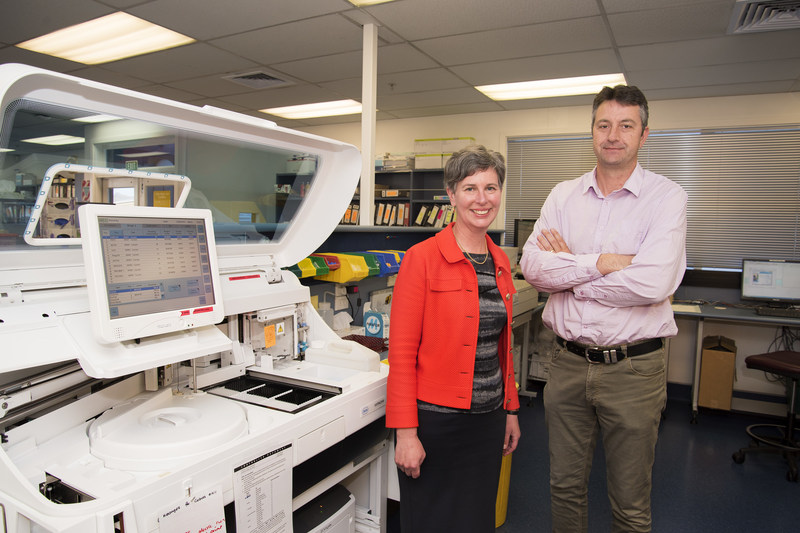 Upstream's CEO, Ruth Appleby and CSO, Associate Professor Chris Pemberton