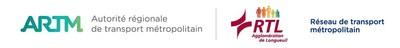 Logos : Autorité régionale de transport métropolitain (ARMT), Réseau de transport métropolitain (RTM) (Groupe CNW/Autorité régionale de transport métropolitain (ARTM))