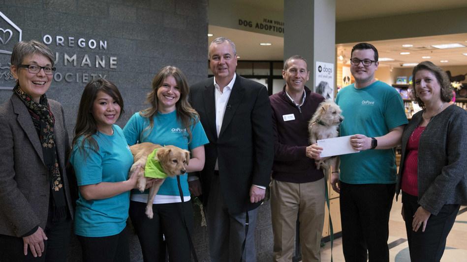 OnPoint Celebrates Community Partnership with the Oregon Humane Society