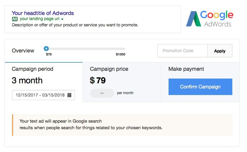 The Google Adwords add-on is now available in beta for both new and existing AdWords' users and starts at $79/month.