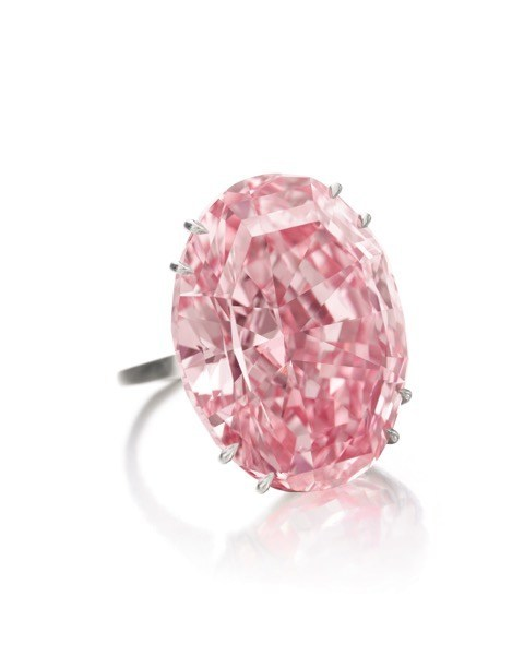 "Sothebys led the global auction market for jewelry in 2017 with sales totaling $551.3 million.  The top lot of year was the  The ""CTF Pink Star"", a Fancy Vivid Pink Internally Flawless diamond weighing 59.60 carats that sold for $71.2 million ($1,194,505 per carat) in Hong Kong this April, a new world auction record for any diamond or gemstone."
