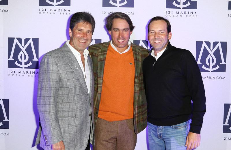 José María Olazábal, Eric Soulavy and Sergio Garcia at the inaugural 121 Marina Invitational.