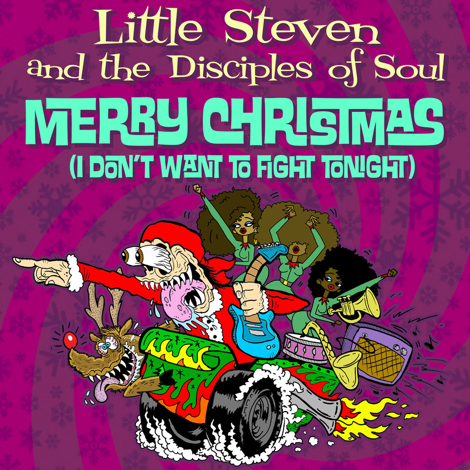 "Little Steven and the Disciples of Soul usher in the holidays with their joyous rock n' soul take on the Ramones' yuletide classic ""Merry Christmas (I Don't Want To Fight Tonight)."""