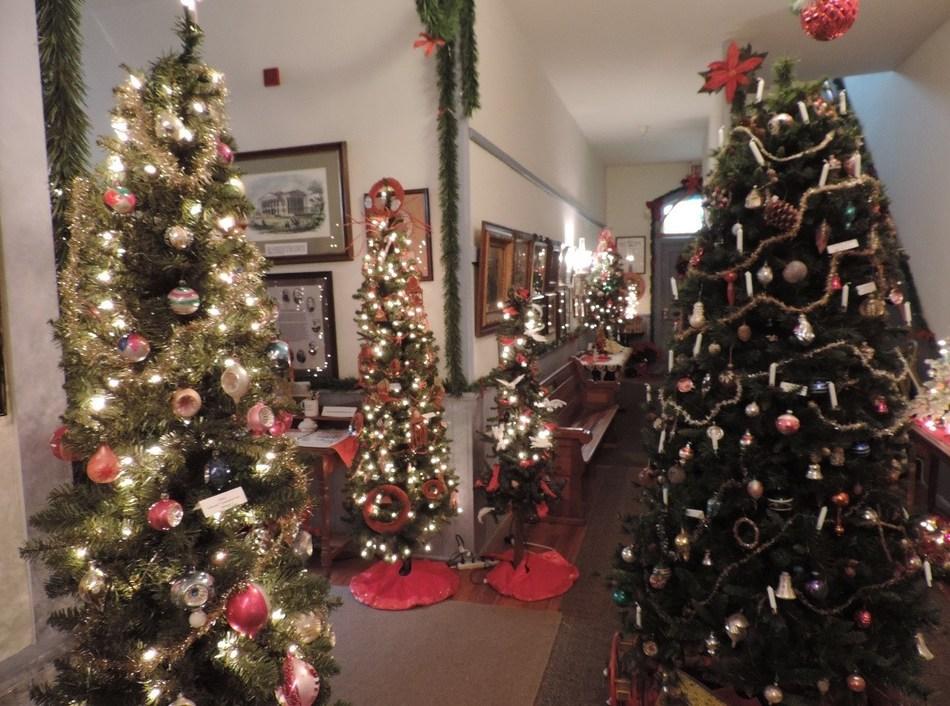 Christmas Tree Display at Lecompton's Territorial Capital Museum