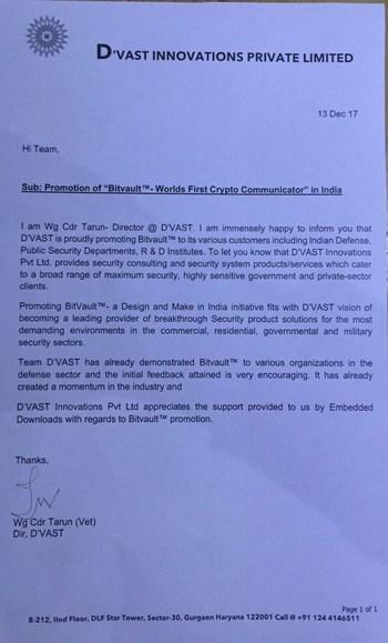 D'Vat Innovations Letter