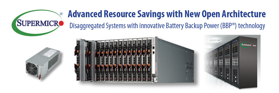 New Supermicro Resource Saving Open Architecture saves massive resources for datacenters