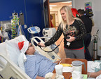 Pediatric patients get a direct link from their room at St. Joseph's Children's Hospital to the North Pole thanks to Santa's helpers from the Bay Area Emergency Amateur Radio Service and the hospital's Child Life team on Thursday, Dec. 14, 2017.
