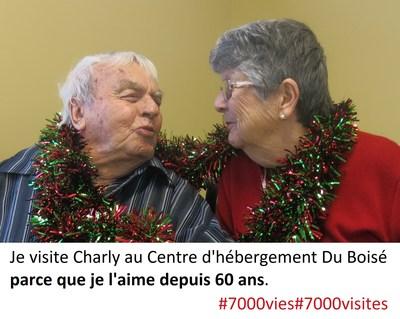 Je visite Charly au CHSLD parce que je l'aime depuis 60 ans (Groupe CNW/Association des établissements privés conventionnés (AEPC))