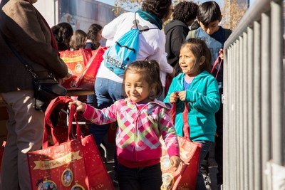 Santa & His Elves Bring Thousands Of Toys To Thousands Of Poor Children & Their Families On Skid Row At Fred Jordan Mission