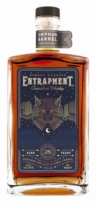 Entrapment™ Canadian Whisky, the most recent release from the Orphan Barrel Whiskey Distilling Company and the first Canadian whisky to join the Orphan Barrel portfolio