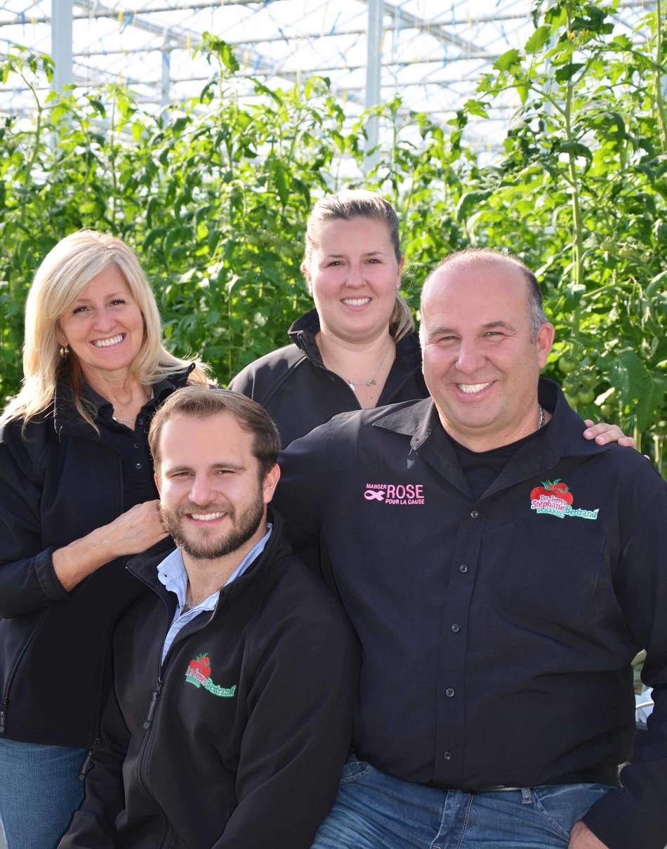 Stéphane Bertrand and his family (CNW Group/Canopy Growth Corporation)