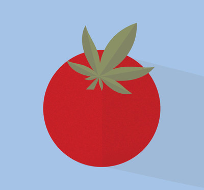 Une illustration d'une tomate et une feuille de cannabis (Groupe CNW/Canopy Growth Corporation)
