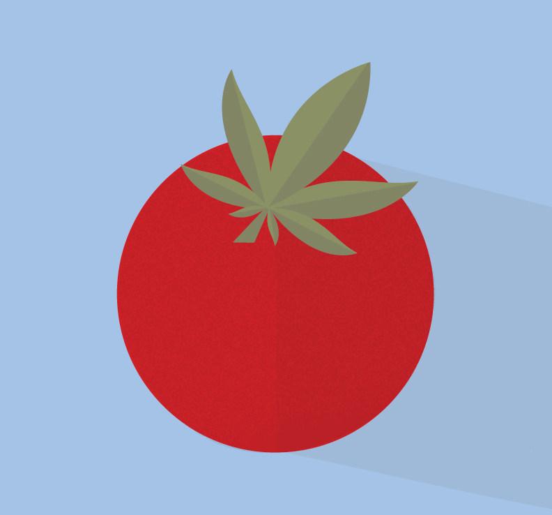 Une illustration d'une tomate et une feuille de cannabis (Groupe CNW/Canopy Growth Corporation)