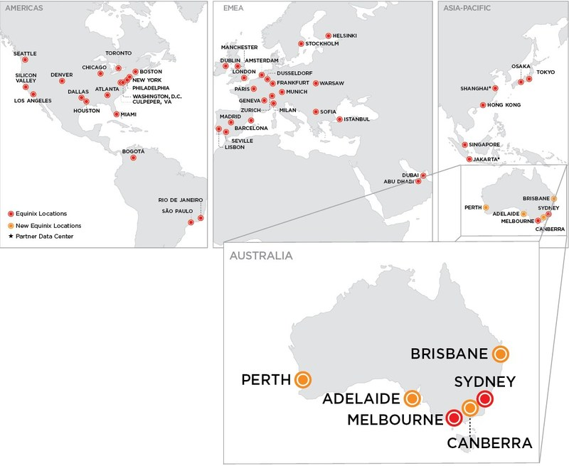 Equinix to expand national footprint in Australia, will add 10 data centers with four new metros