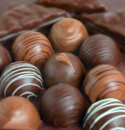Bulk chocolate truffles for your event - all handmade using organic chocolate.
