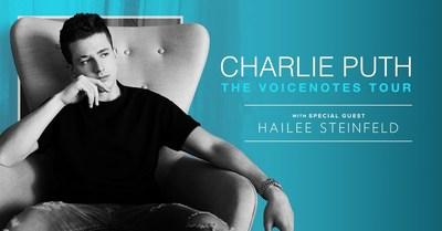 "Charlie Puth Unveils ""The Voicenotes Tour"""