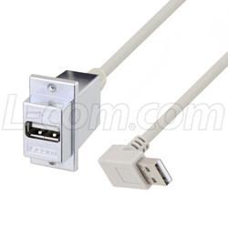 新型USB 2.0 ECF型面板安装式USB适配器线缆