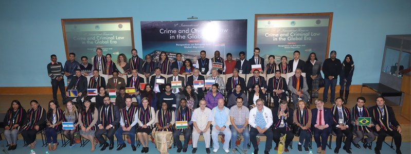 9th International Forum on Crime and Criminal Law in the Global Era (IFCCLGE) delegation with JIBS Principal Director Dr Sanjeev P. Sahni (PRNewsfoto/O.P. Jindal Global University)