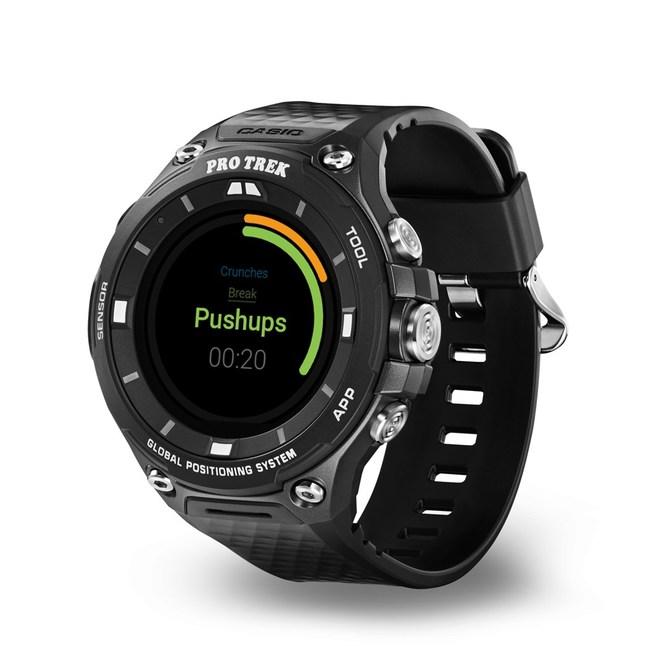 Exercise Timer on the CASIO PRO TREK smart